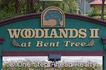 sign for Woodlands II of Bent Tree