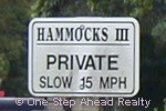 sign for Hammocks III of Bent Tree