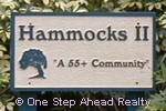 sign for Hammocks II of Bent Tree